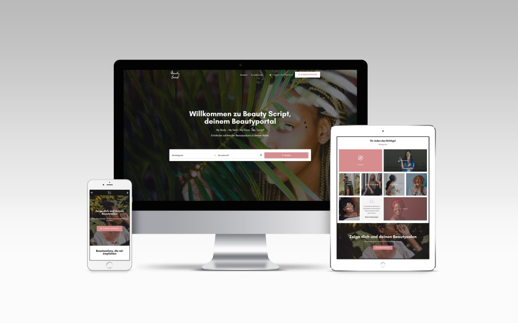 Beautyscript Homepage