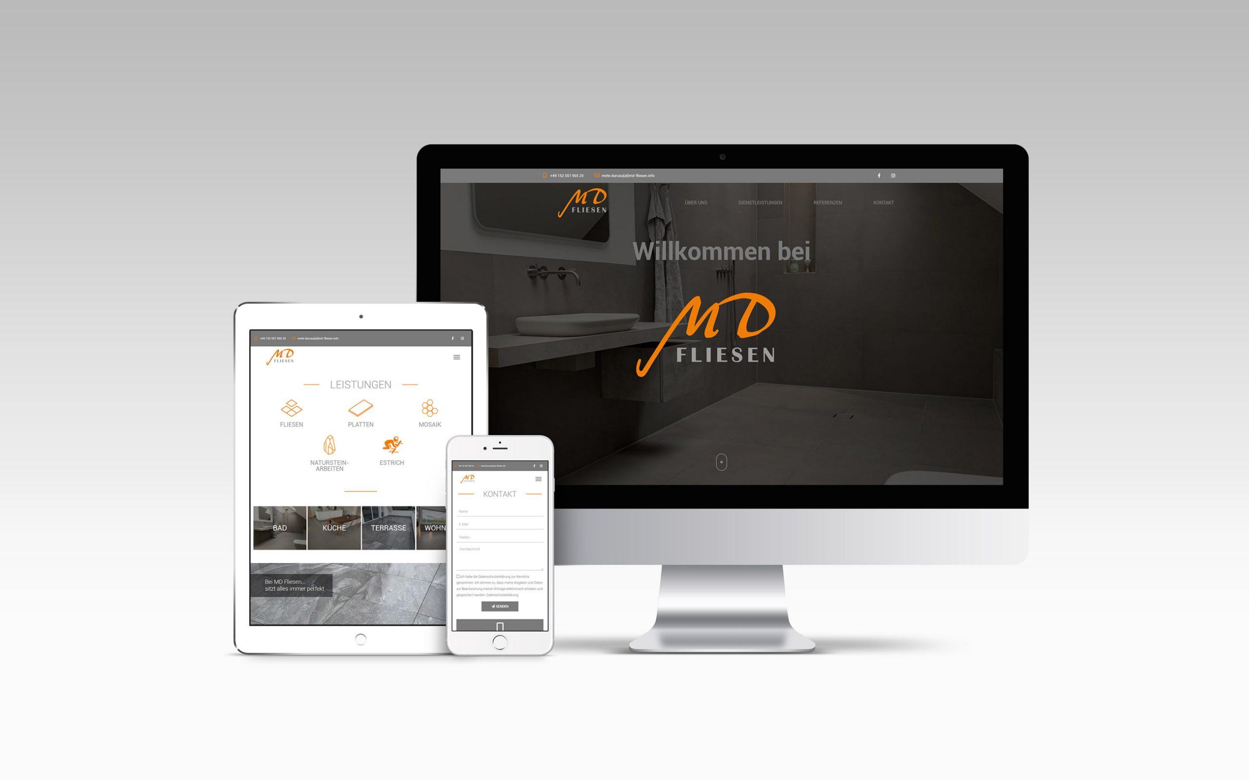 MD Fliesen Homepage Vorschau